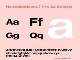 HelveticaNeueLT Pro 53 Ex Bold Version 1.000;PS 001.000;Core 1.0.38图片样张