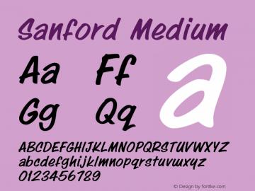 Sanford Medium Version 001.000图片样张