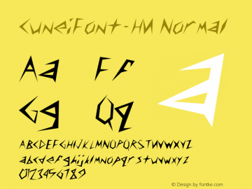 CuneiFont-HU Normal 1.000 Font Sample
