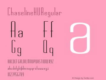 Chaseline HU Regular Altsys Fontographer 3.5 4/27/92 Font Sample
