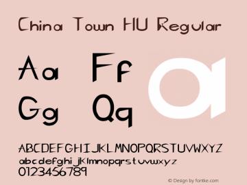 China Town HU Regular Altsys Fontographer 3.5 4/27/92 Font Sample