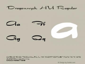 Dragonwyck HU Regular Altsys Fontographer 3.5 4/15/92 Font Sample