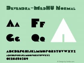 Devendra-MedHU Normal 1.000 Font Sample