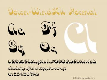 Down-WindHU Normal 1.000 Font Sample
