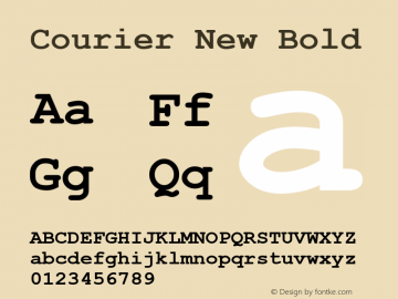 Courier New Bold Version 2.90图片样张