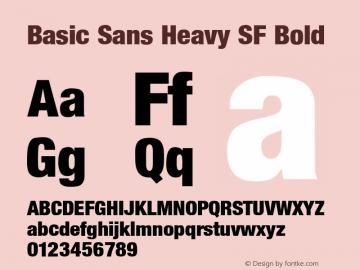 Basic Sans Heavy Sf Font Basic Sans Heavy Sf Bold Font Basicsansheavysfbold Font Basic Sans Heavy Sf Bold Altsys Fontographer 3 5 8 6 92 Font Ttf Font Sans Serif Font Fontke Com