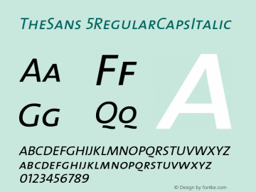 TheSans 5RegularCapsItalic Version 1.0 Font Sample