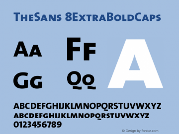 TheSans 8ExtraBoldCaps Version 1.0 Font Sample