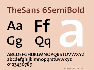 TheSans 6SemiBold Version 1.0 Font Sample