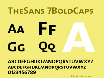 TheSans 7BoldCaps Version 1.0 Font Sample