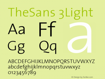 TheSans 3Light Version 1.0 Font Sample