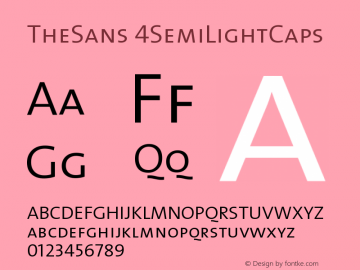 TheSans 4SemiLightCaps Version 1.0 Font Sample