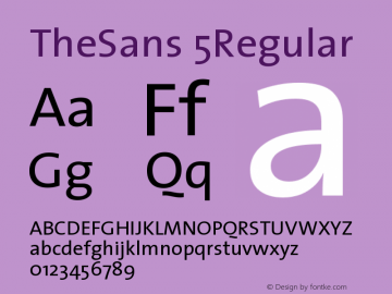 TheSans 5Regular Version 1.0 Font Sample