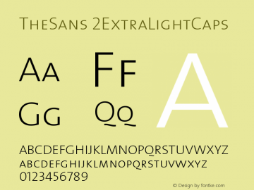 TheSans 2ExtraLightCaps Version 1.0 Font Sample