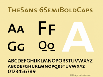 TheSans 6SemiBoldCaps Version 1.0 Font Sample