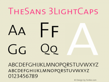 TheSans 3LightCaps Version 1.0 Font Sample