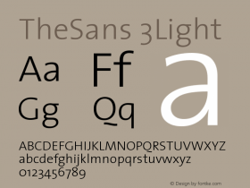 TheSans 3Light Version 1.0 Font Sample