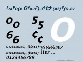 TheSans 6SemiBoldExpertItalic Version 1.0 Font Sample