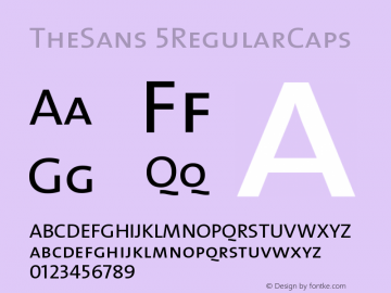 TheSans 5RegularCaps Version 1.0 Font Sample