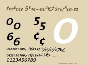 TheSans 5RegularExpertItalic Version 001.000 Font Sample