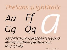 TheSans 3LightItalic Version 1.0 Font Sample