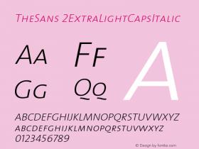 TheSans 2ExtraLightCapsItalic Version 1.0 Font Sample