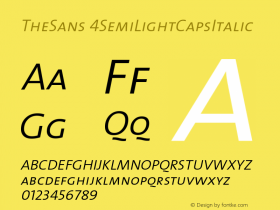 TheSans 4SemiLightCapsItalic Version 1.0 Font Sample