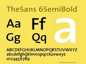 TheSans 6SemiBold Version 1.0 Font Sample
