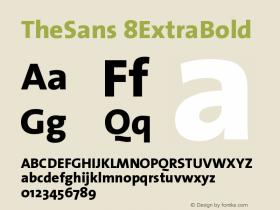 TheSans 8ExtraBold Version 1.0 Font Sample