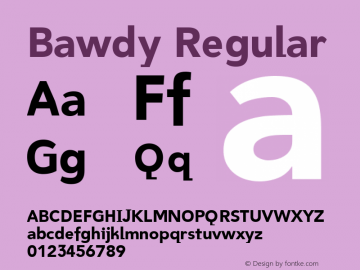 Bawdy Regular Version 1.00图片样张