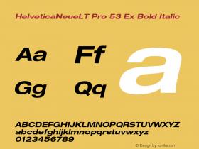 HelveticaNeueLT Pro 53 Ex Bold Italic Version 1.000;PS 001.000;Core 1.0.38 Font Sample