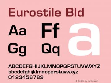 Eurostile Bld Version 4.0 Font Sample