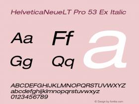 HelveticaNeueLT Pro 53 Ex Italic Version 1.000;PS 001.000;Core 1.0.38图片样张