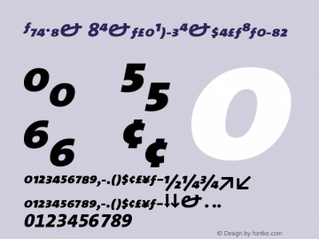 TheMix 8ExtraBoldExpertItalic Version 1.0 Font Sample
