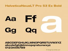 HelveticaNeueLT Pro 53 Ex Bold Version 1.000;PS 001.000;Core 1.0.38 Font Sample