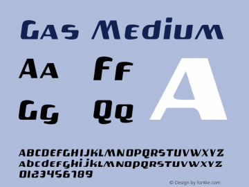 Gas Medium 001.000 Font Sample
