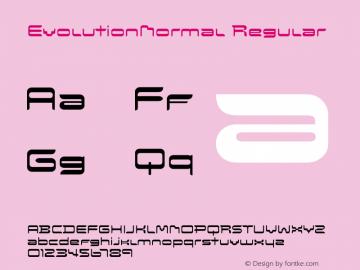 EvolutionNormal Regular Macromedia Fontographer 4.1.5 11/12/03图片样张