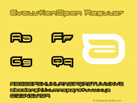 EvolutionOpen Regular Macromedia Fontographer 4.1.5 8/1/02 Font Sample