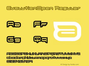 EvolutionOpen Regular Macromedia Fontographer 4.1.5 8/1/02 Font Sample