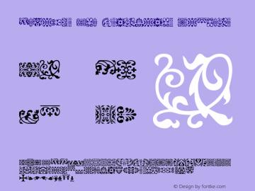 Elzevir Dtl Ornaments Regular Macromedia Fontographer 4.1 06.06.2002 Font Sample