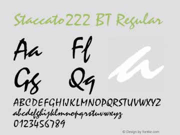 Staccato222 BT Regular mfgpctt-v4.4 Dec 22 1998 Font Sample