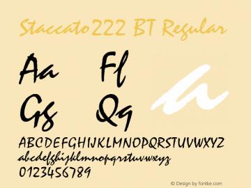 Staccato222 BT Regular Version 1.01 emb4-OT Font Sample