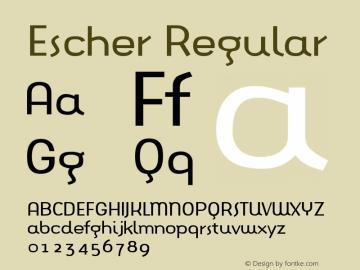 Escher Regular Version 001.000 Font Sample