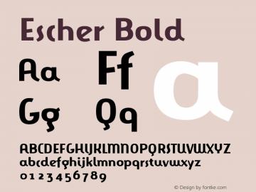 Escher Bold Version 001.000 Font Sample