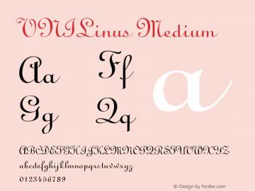 VNILinus Medium Version 001.000 Font Sample