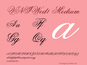 VNIWed1 Medium Version 001.000 Font Sample