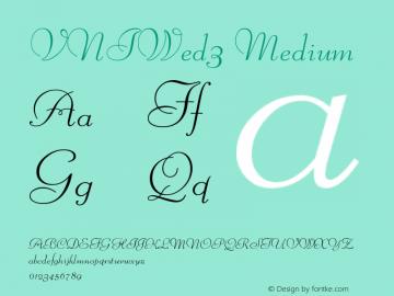 VNIWed3 Medium Version 001.000 Font Sample