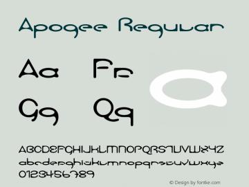 Apogee Regular 001.001 Font Sample