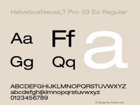 HelveticaNeueLT Pro 53 Ex Regular Version 1.000;PS 001.000;Core 1.0.38图片样张