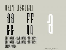 Exit Regular OTF 1.000;PS 001.000;Core 1.0.29 Font Sample